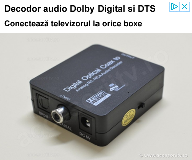 Adaptor audio optic la RCA, toslink la jack. Decodor Dolby Digital si DTS.